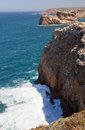 Cabo de sao vincente end of europe algarve portugal Stock Photos
