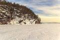 Cabo del mar de barents congelado del invierno Fotografía de archivo libre de regalías