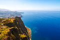 Cabo girao madeira view from the highest cliff of europe towards funchal Stock Image