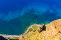 Cabo girao view from cliff on madeira island Royalty Free Stock Image