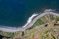 Cabo girao view from the highest cliff in madeira island portugal Royalty Free Stock Photo