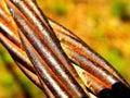Cabo oxidado Foto de Stock Royalty Free