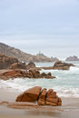 Cabo vilan in costa da morte galicia spain Stock Photography