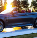 Cabriolet car and the sun Royalty Free Stock Photo
