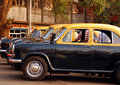 Cabs at the Taxi Stand in India Stock Image