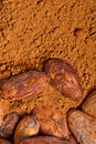 Cacao baclground Royalty Free Stock Photography