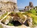 Cachtice城堡地下墓穴 免版税库存照片