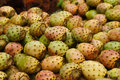 Cactaceous fig fruits in a fez market morocco Stock Photos