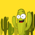 Cactus character. Royalty Free Stock Photography