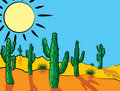 Cactus in desert Stock Photography