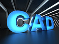 CAD - Computer-aided design Royalty Free Stock Photo