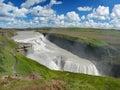 Caída de Gullfoss en la Islandia Imagen de archivo libre de regalías
