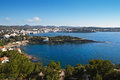 Cadaques and sa conca overall view of spain with in the foreground Stock Image