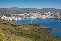 Cadaques spain scenic view of the small spanish coastal fishing town of Royalty Free Stock Photos