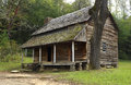 Cades cove cabin in smokey mountains tennesee Royalty Free Stock Photography