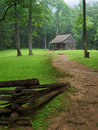 Cades Cove, carter shield cabin Stock Images