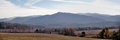 Cades cove landscape panoramic Royalty Free Stock Photo