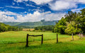 Cades cove lush greens in the great smokey mountains national park Stock Image