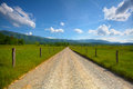 Cades Cove Road Royalty Free Stock Photo
