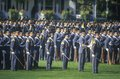 Cadets in Formation, West Point Military Academy, West Point, New York Royalty Free Stock Photo
