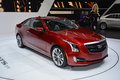 Cadillac ats coupe at the geneva motor show on display during switzerland march Stock Photo