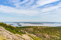 Cadillac mountain vista this image shows the view towards bar harbor from in acadia national park Stock Photos