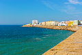 Cadiz embankment of the atlantic ocean in the spanish city of Stock Images