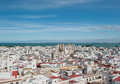 Cadiz panorama spain Royaltyfria Bilder