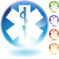 Caduceus Icon Royalty Free Stock Photo