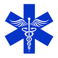 Caduceus - medical  icon Royalty Free Stock Photo