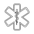 caduceus medical symbol isolated icon design Royalty Free Stock Photo