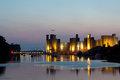 Caernarfon castle in north wales uk Stock Photo