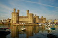 Caernarfon castle in north west wales uk medieval gwynedd Stock Photos