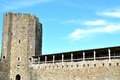 caerphilly castle in Wales Royalty Free Stock Photo