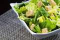 Caesar salad fresh with croutons Royalty Free Stock Image