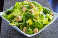 Caesar salad fresh with croutons Stock Photo