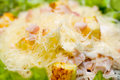 Caesar salad, macro Royalty Free Stock Image