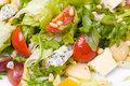 Caesar salad, macro Royalty Free Stock Photo