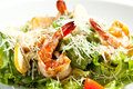 Caesar Salad with Shrimp Royalty Free Stock Photo