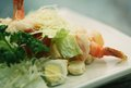 Caesar salad with shrimp restaurant Stock Image