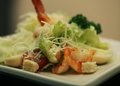 Caesar salad with shrimp restaurant Royalty Free Stock Photography