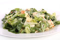 Caesar salad on white background Stock Photos