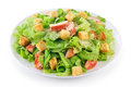 Caesar salad on white background. Royalty Free Stock Photo