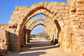 Caesarea archs. Royalty Free Stock Photos