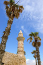 Caesarea the bosnian mosque in national park israel Stock Images