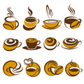 Café. Elementos para o projeto. Imagem de Stock