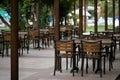 Café vazio Fotos de Stock Royalty Free