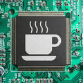 Café de Cyber Photographie stock libre de droits