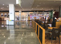 Cafe at the airport inside cafes and shops international waiting area bulgaria duty free shops Stock Image