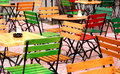 Cafe bar Chairs Outdoor Stock Images